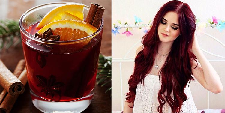 Colore capelli rosso vin brule